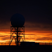 Strathmore, Alberta Weather Station in the Sunrise