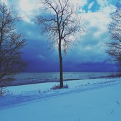 Snow clouds over Lake Erie