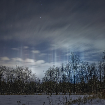 Light Pillars over Smiths Falls