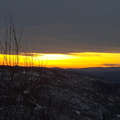 Sunset over Kamloops