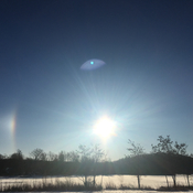 Sundog on a crisp morning