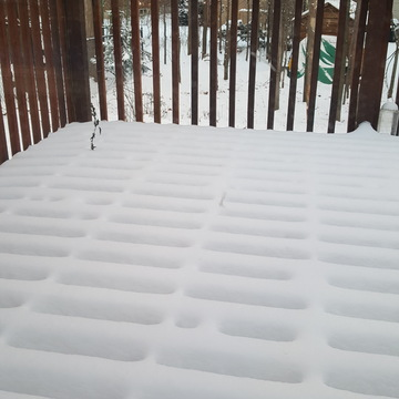 Beautiful view of our deck
