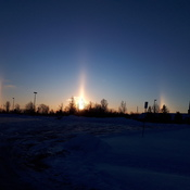 Beautiful sundog