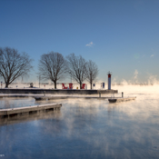 Steam Risting from the St. Lawrence River