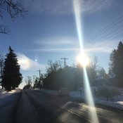Two sun phenomena around 3:15 in West Lincoln