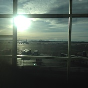 View out the window of Edmonton airport - 2:36 p.m.