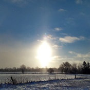 Sun halo on a cold winter day...