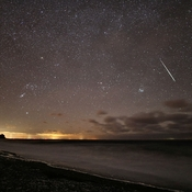 Geminid Meteor Over Arisaig, N.S.