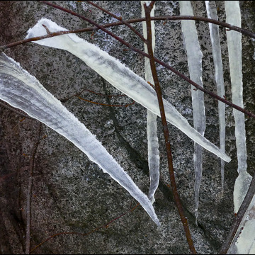 Odd icicles, Elliot lake.