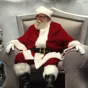 Santa at the mall