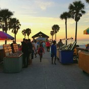 Vendors at Sunset