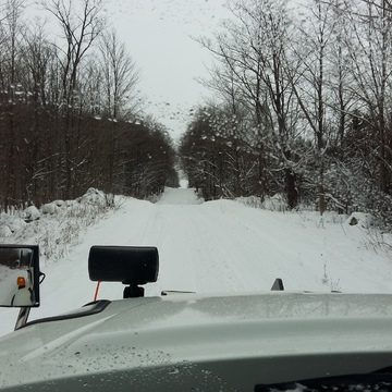 shoving snow on back roads