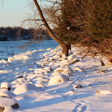 Minus 17 at Lemoine Point Park
