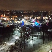 Christmas Lights from the top of City Hall