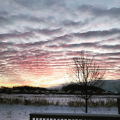 Stunning clouds and sunrise in Listowel, Ontario