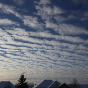Winter morning cloud formation