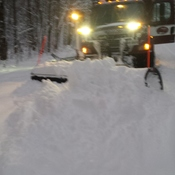 Clearing the roads......