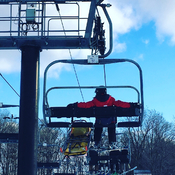 Ski patrolling at glen Eden ski
