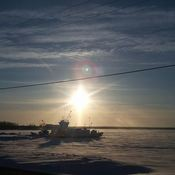 Sun Dog in Split Lake