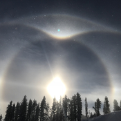 Sun Dog on the mountain at Kimberly Alpine Resort