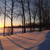 Sunset in Lac Saint-Louis