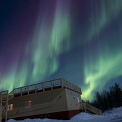 Aurora over the station