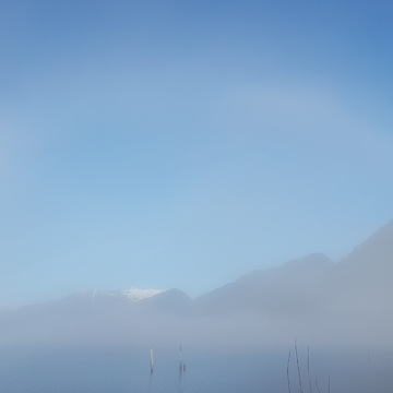 fog bow at pitt lake