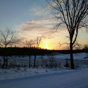 Sunrise on chemin Martindale