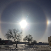 Sundog in Winnipeg, Manitoba on January 15, 2018