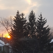 Sunset with flurries