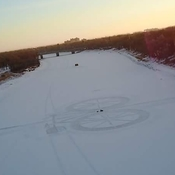 Fatbike snow art