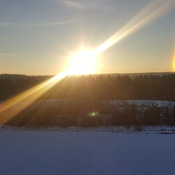 beautiful sundogs