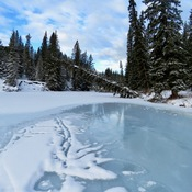 Snowshoeing in the Sandy McNabb area