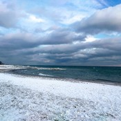 Icy beach, Lake Ontario