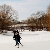 Idyllic Winter scene on Rideau Canal
