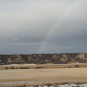 Rainbow on the prairies in January