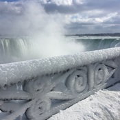 Winter beauty at Niagara Falls