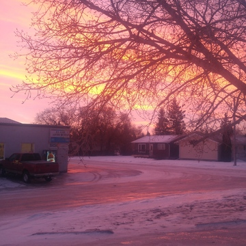sunrise in Ituna Sk.