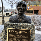 Pierre Berton Keeping Warm in Whitehorse