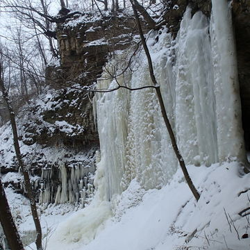 Last of the full Iced waterfalls in Hamilton