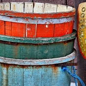 Fish Buckets and Buoy