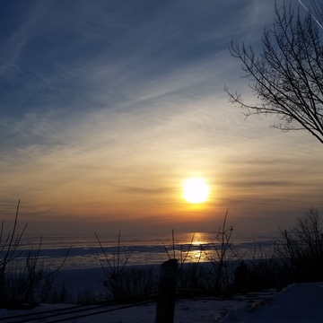Sunset in Port Stanley