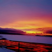 Rossport area Lake Superior winter sunrise