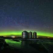 Bright Green Aurora