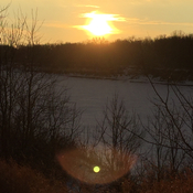 Sunset in Manitoba in Maple Grove dog park.