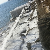 ice on lakefront