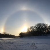 Sun Dogs over the Assiniboine river