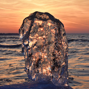 Sunset Ice Sculpture 🌅