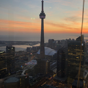 january cn tower lake ontario sunset