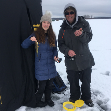 Ice fishing on Hoople's Bay, Ontario